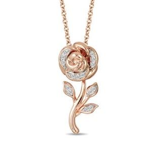 Disney Enchanted Fine Jewelry - Rose Necklace.